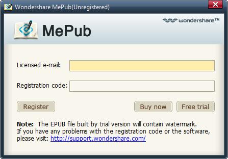 register mepub for windows