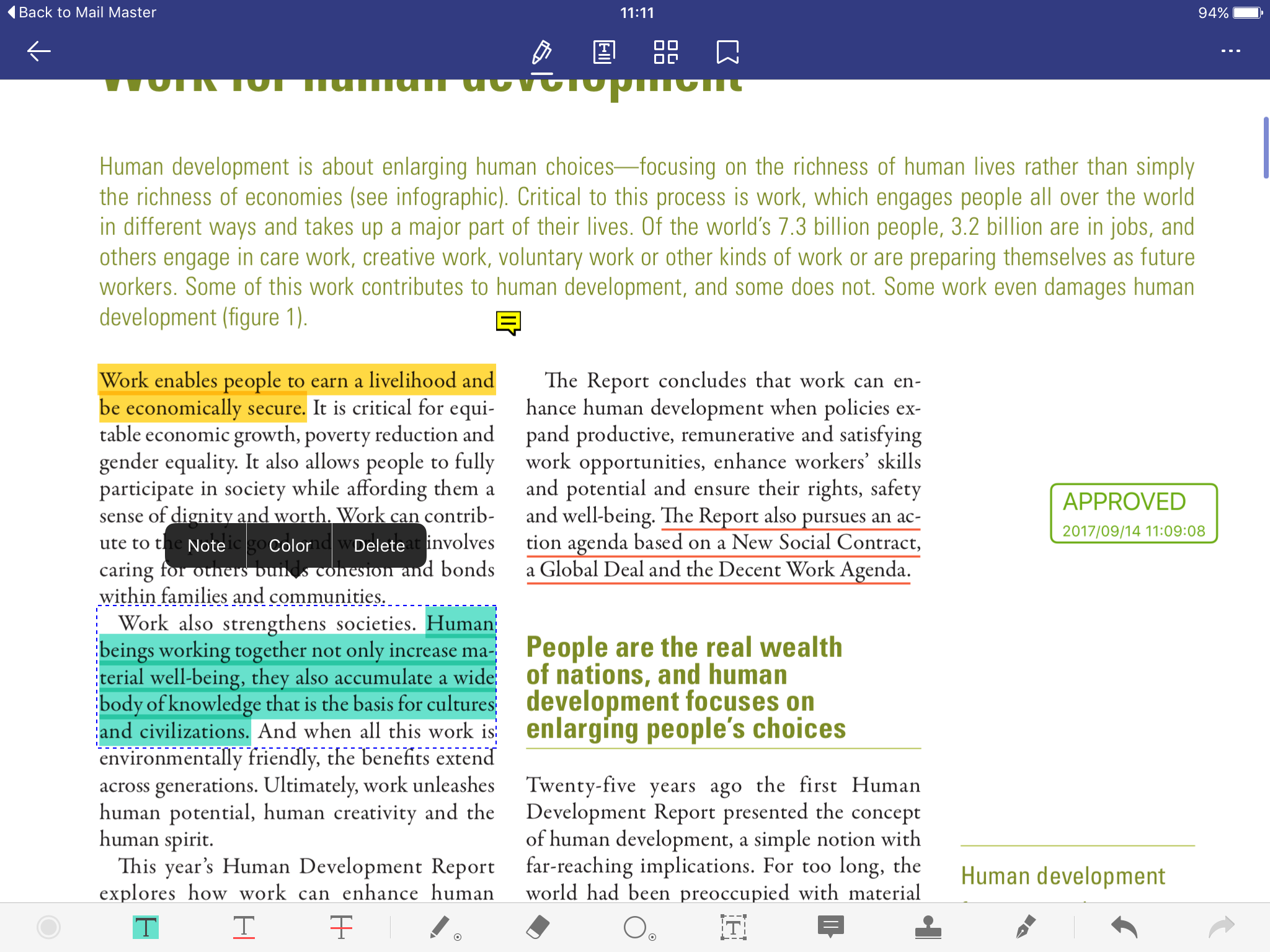pdf writer for ipad