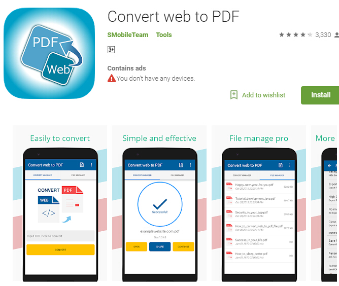 Top 5 Free Android Web to PDF Converter Apps | Wondershare