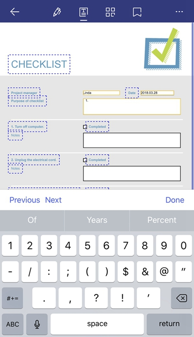 fill out forms on iphone