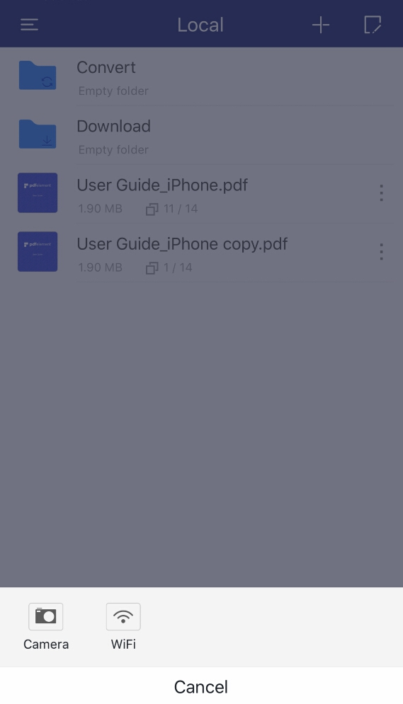 numériser en pdf iOS 10