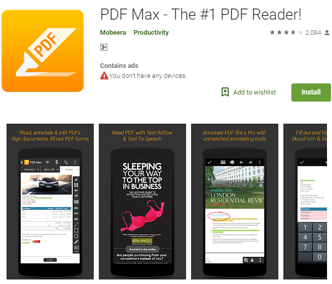 Android pdf readers for