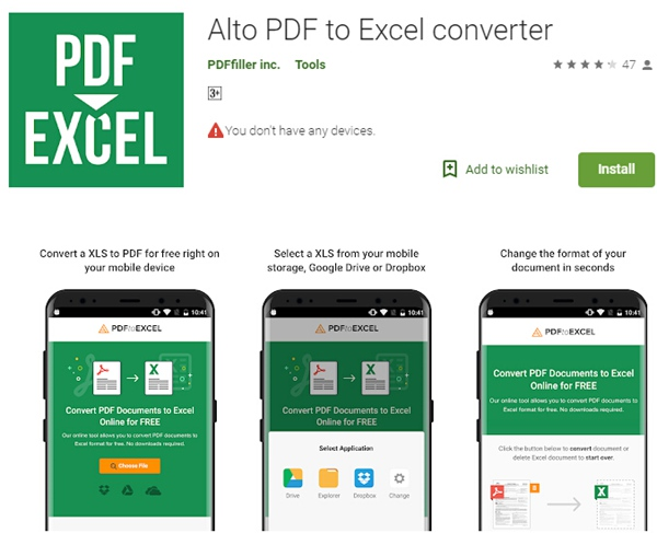 Best PDF to Excel App on Android | Wondershare PDFelement