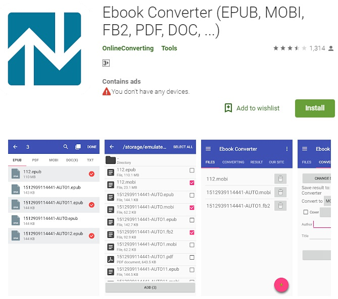 Epub to pdf converter for android wondershare pdfelement epub to pdf converter android fandeluxe Images