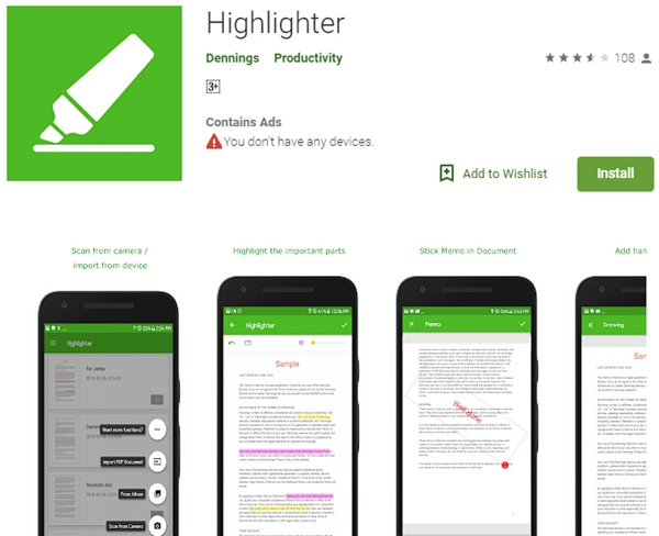 Reader with highlighter pdf