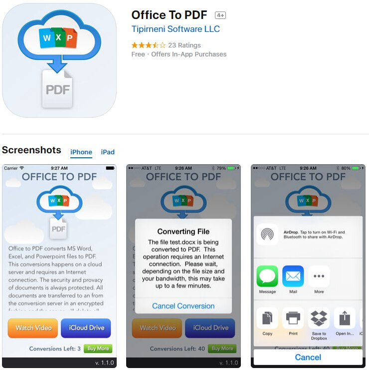 Top 5 Free PDF Creator Apps for iPhone | Wondershare PDFelement