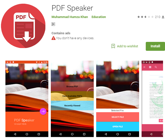 pdf to speech android free download