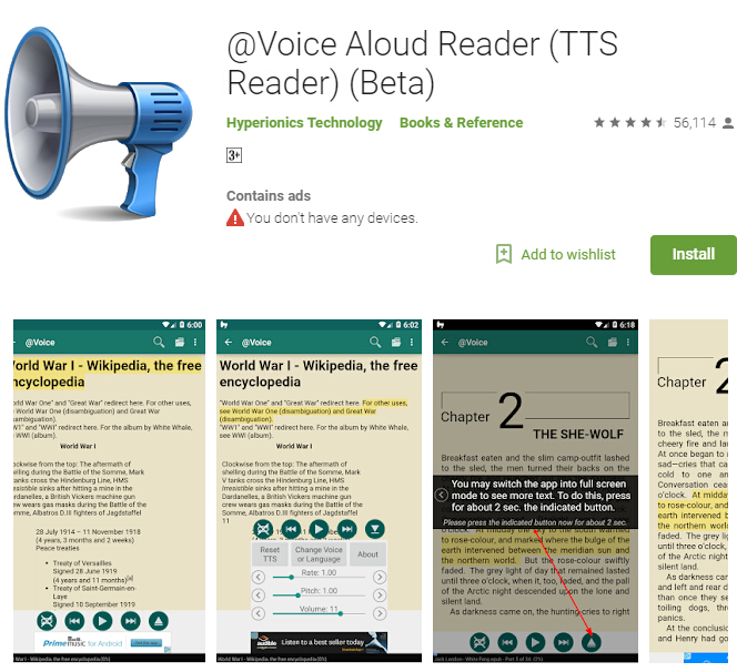 android pdf to speech