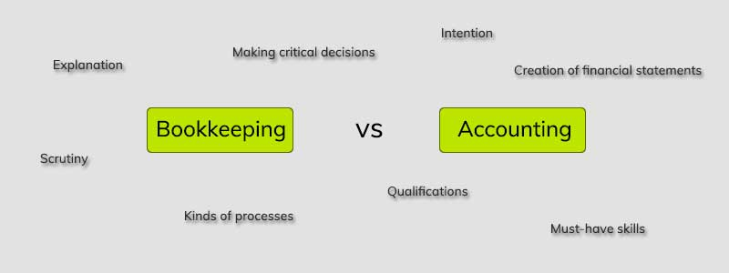 accounting vs bookkeeping