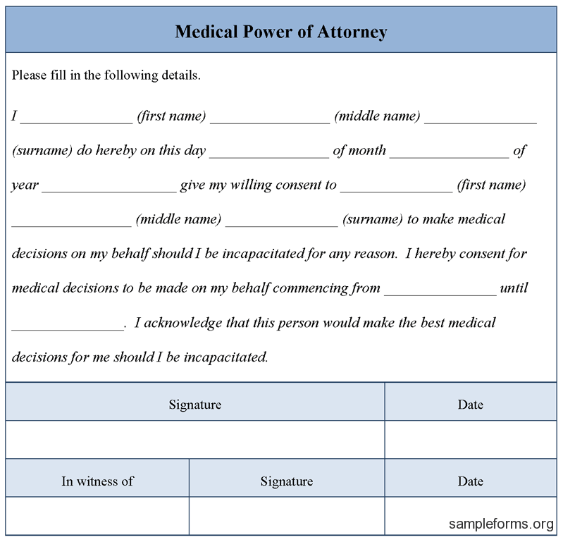 Medical Power of Attorney Free Download Edit and Fill – Health Care Power of Attorney Form