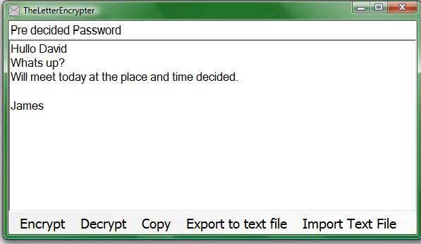encrypt text file