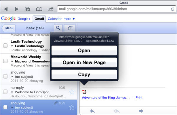 Pdf File From Email To Ipad