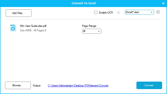 Convert PDF to Excel 2013