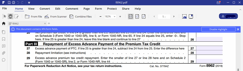 Irs Form 8962 Instruction For How To Fill It Right Wondershare