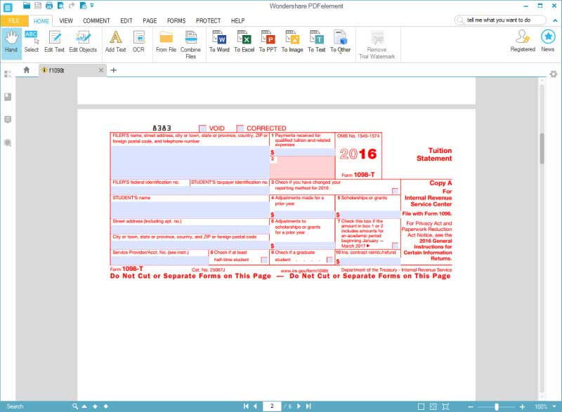 IRS Form 1098-T: Fill Without Errors