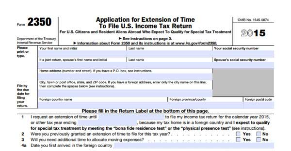 tax extension form: extend tax due date if you need | wondershare