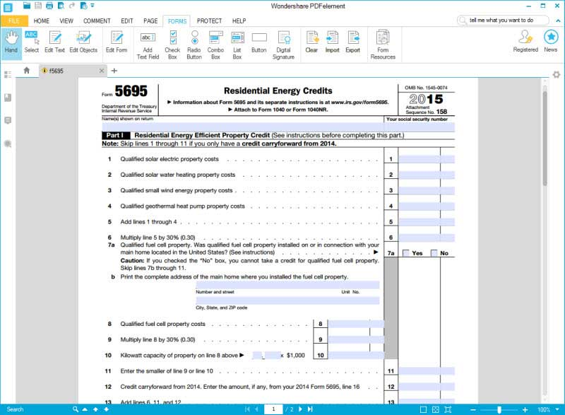 Instructions for How to IRS Form 5695