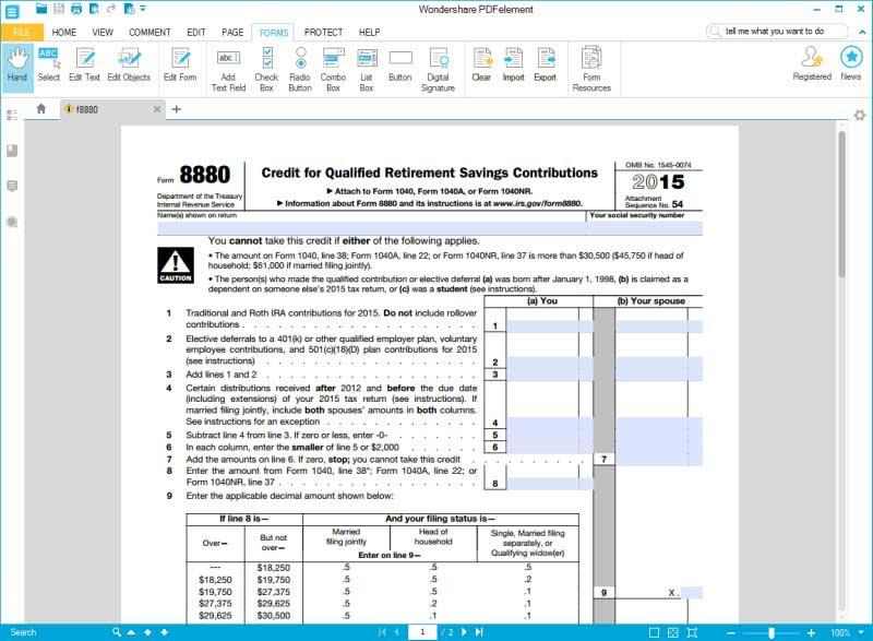 Credit limit worksheet form 2016