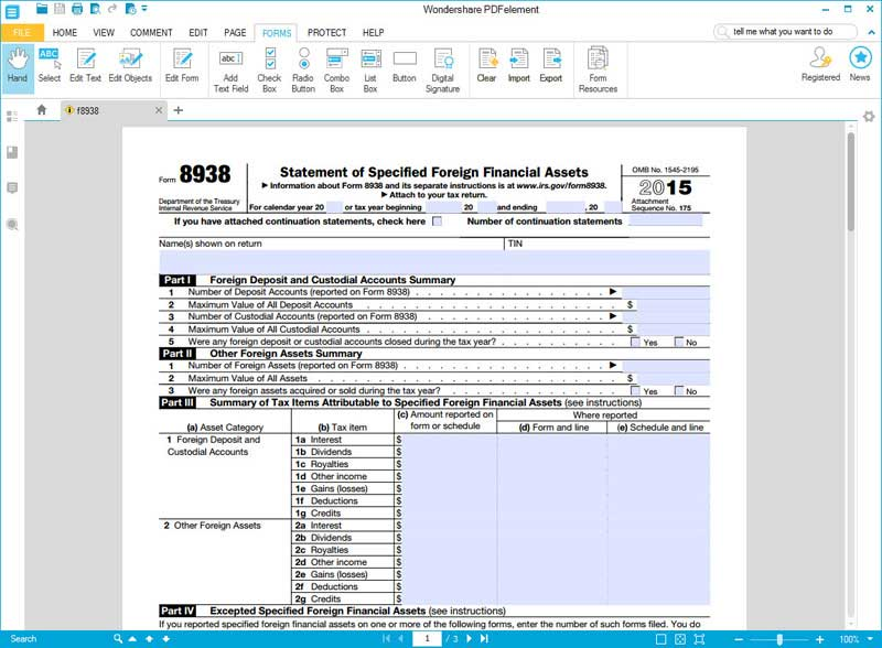 IRS Form 8938: How to Fill it with the Best Form Filler