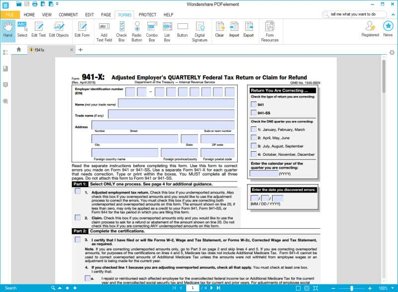IRS Form 941-X: Learn How to Fill it Easily