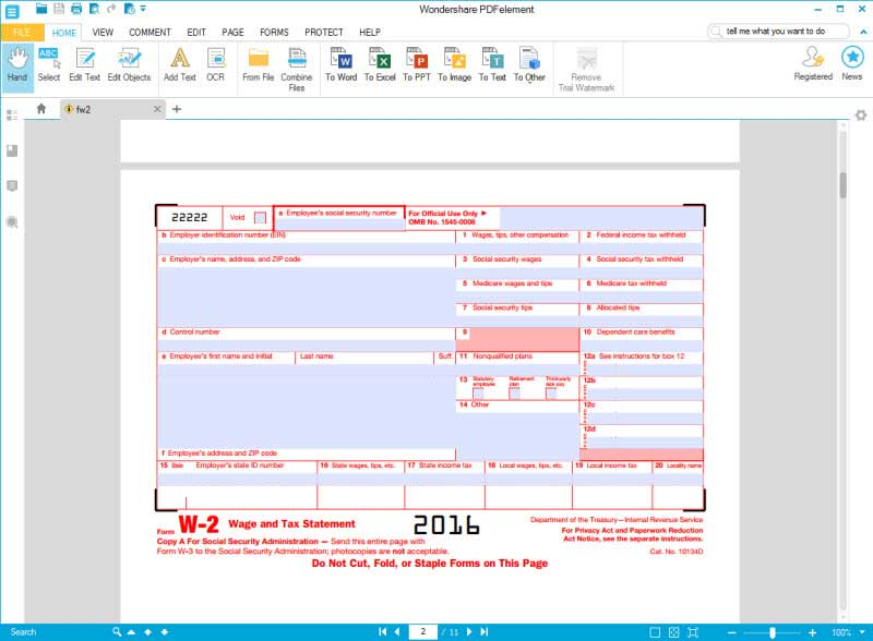 w2 excel template