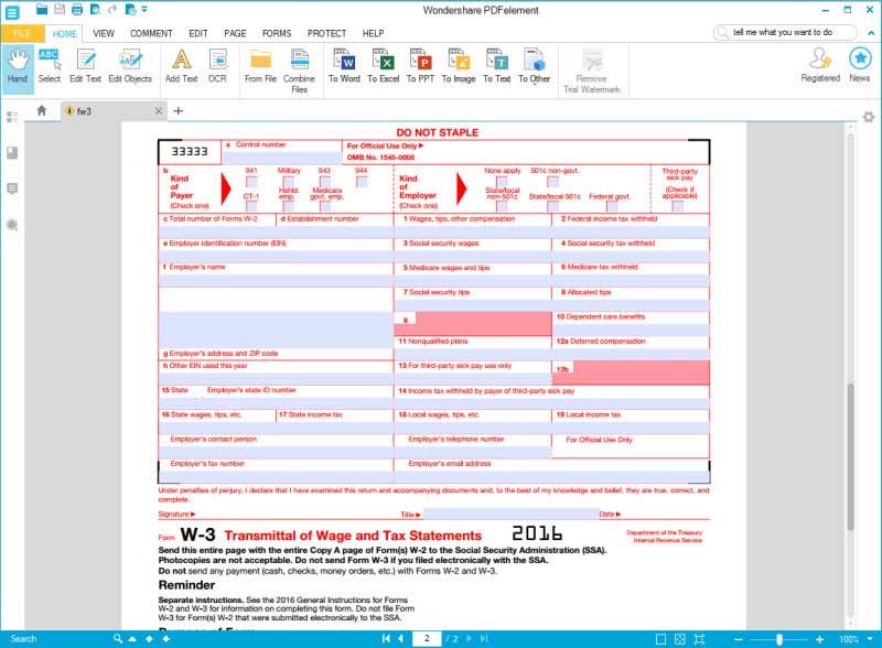 28+ [ Image Gallery 2012 Irs W3 ] | 2016 Irs Tax Form W 3 ...