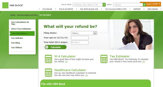 How do you use the H&R Block online tax calculator ...