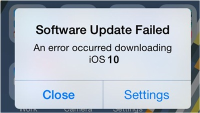 update failed