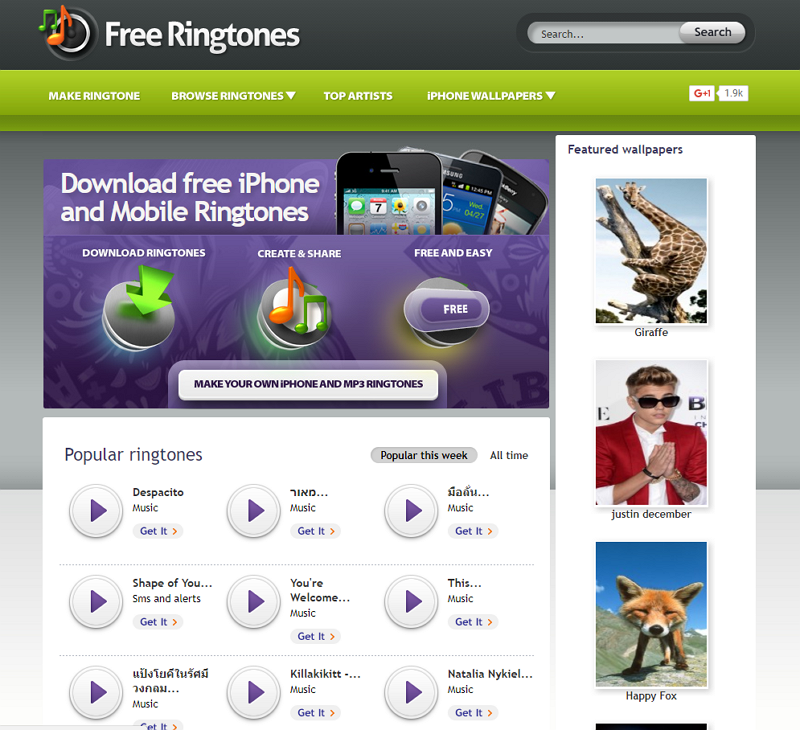 ringtone download free music