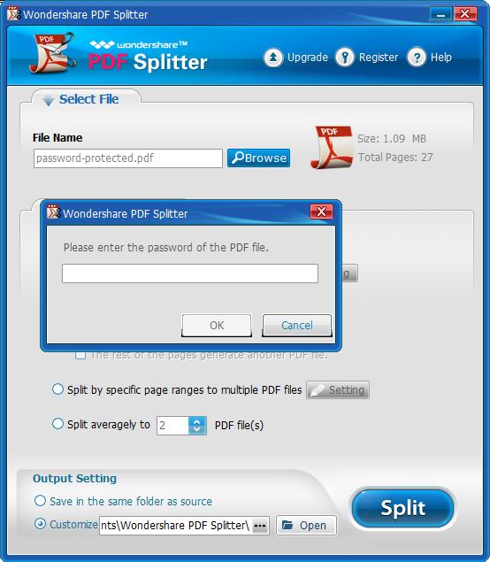 Wondershare PDF Splitter User Guide