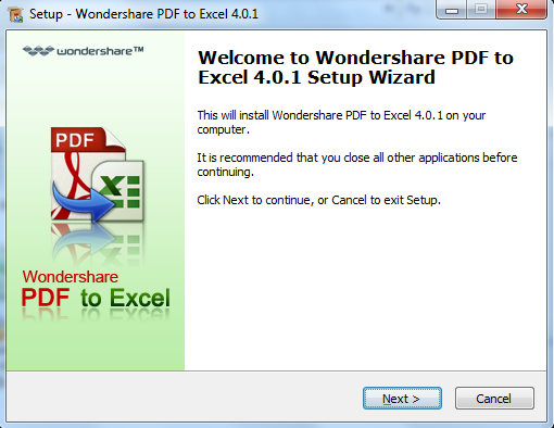 install pdf to excel for windows