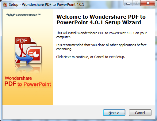Wondershare PDF to PowerPoint Converter User Guide