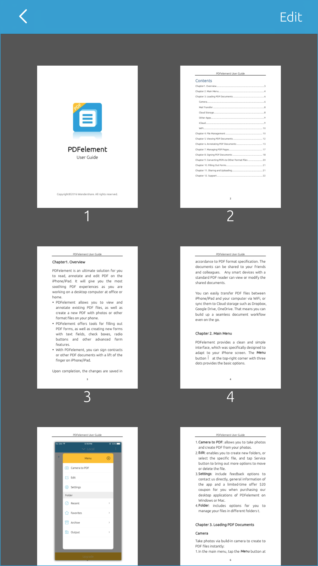 viewing pdf on iphone