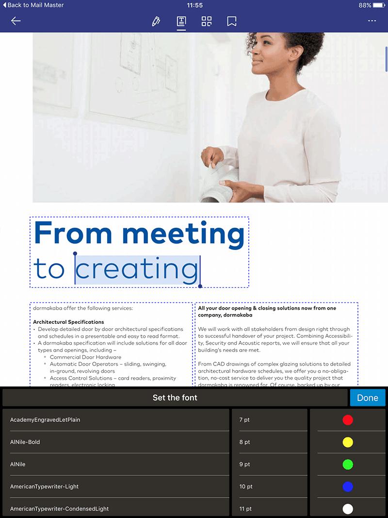 ipad markup pdf