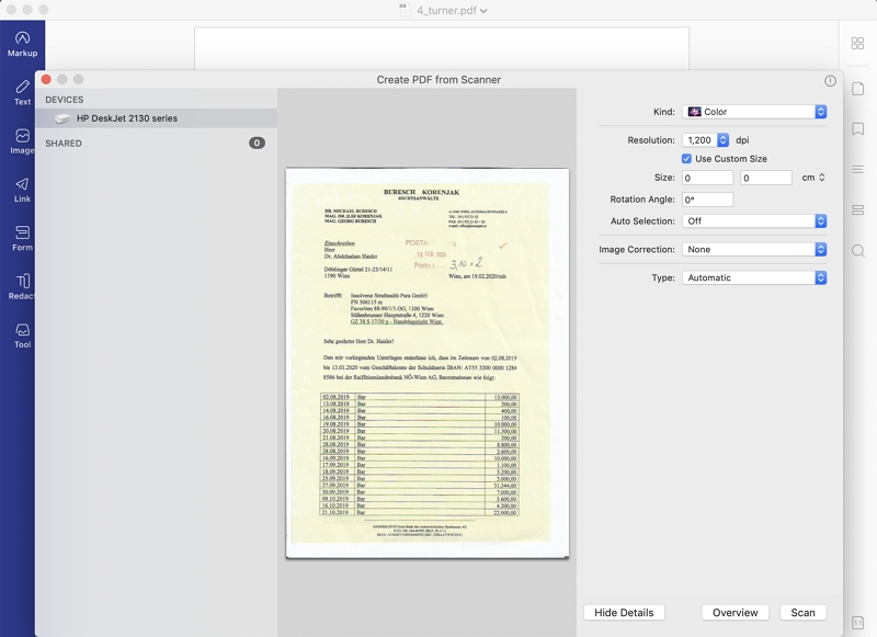 how to combine scanned documents into one pdf mac