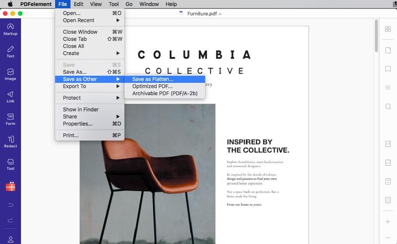 mac preview flatten pdf