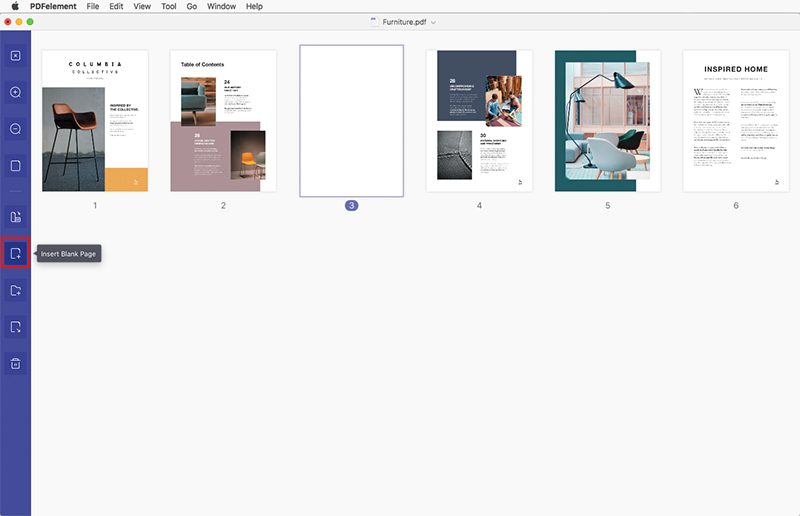 insert pages to pdf mac