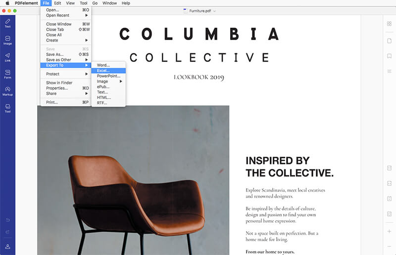 convert pdf to excel mac