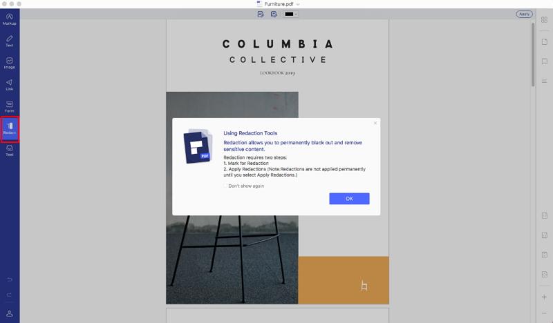 how to redact pdf on mac