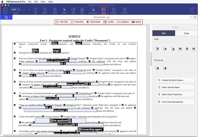 how to edit a pdf form mac