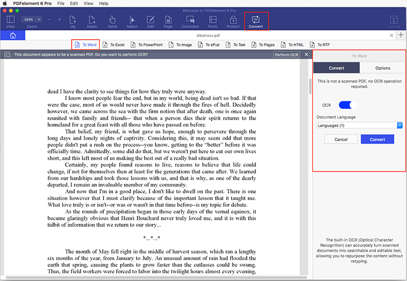 mac pdf converter to word