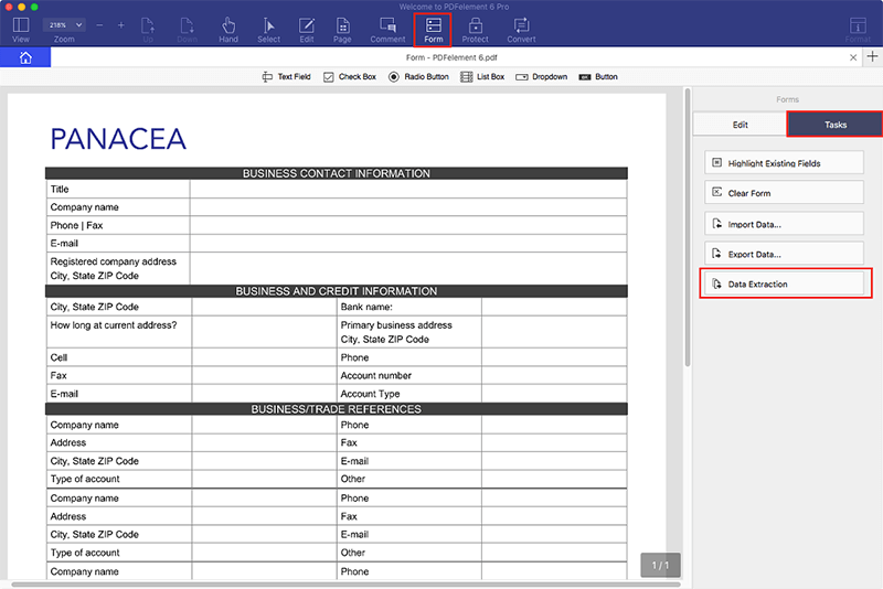 export pdf form data to excel spreadsheet mac
