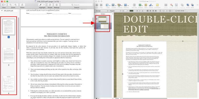 insert pdf into keynote
