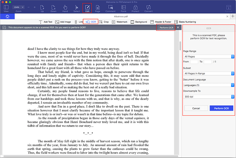 edit scanned pdf on mac free