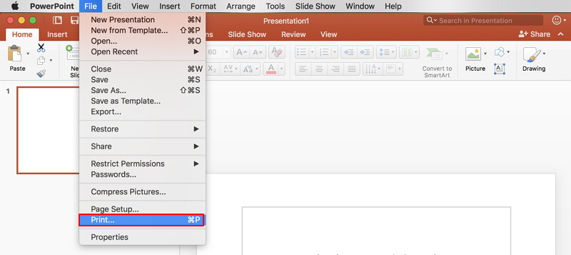 how to convert ppt to pdf on mac