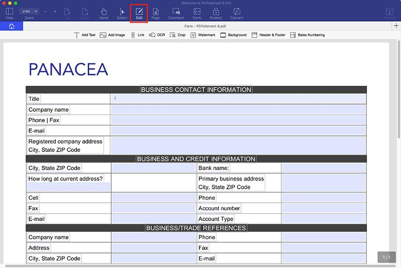 editar formulario en mac