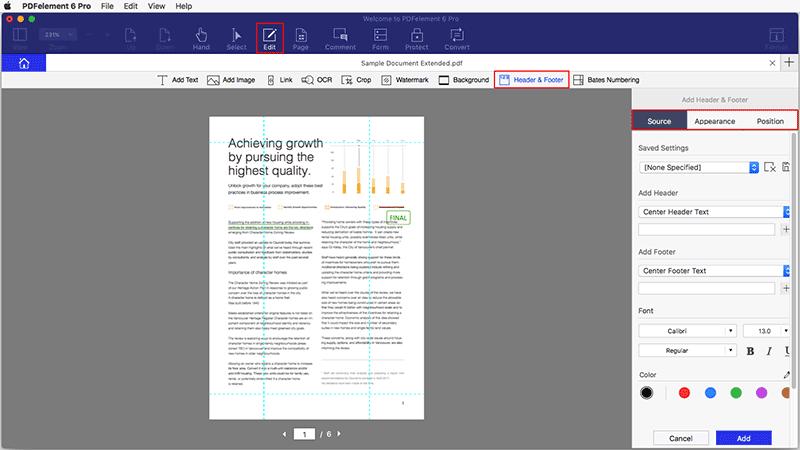 Seitenzahlen in PDF hinzufügen mac