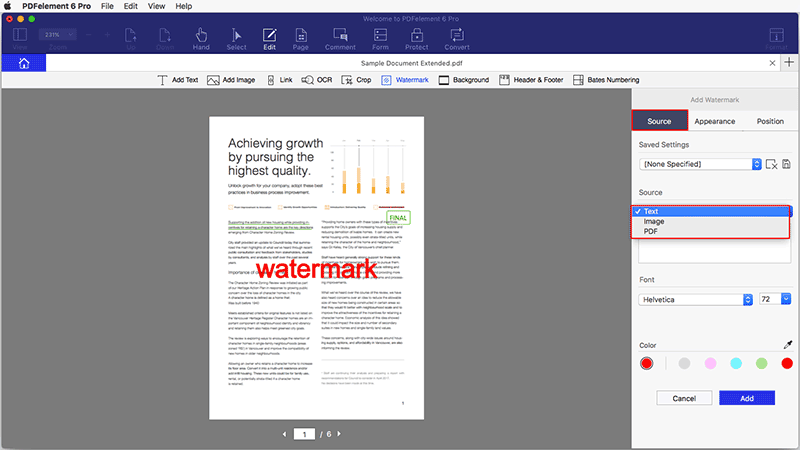 add watermark to pdf mac