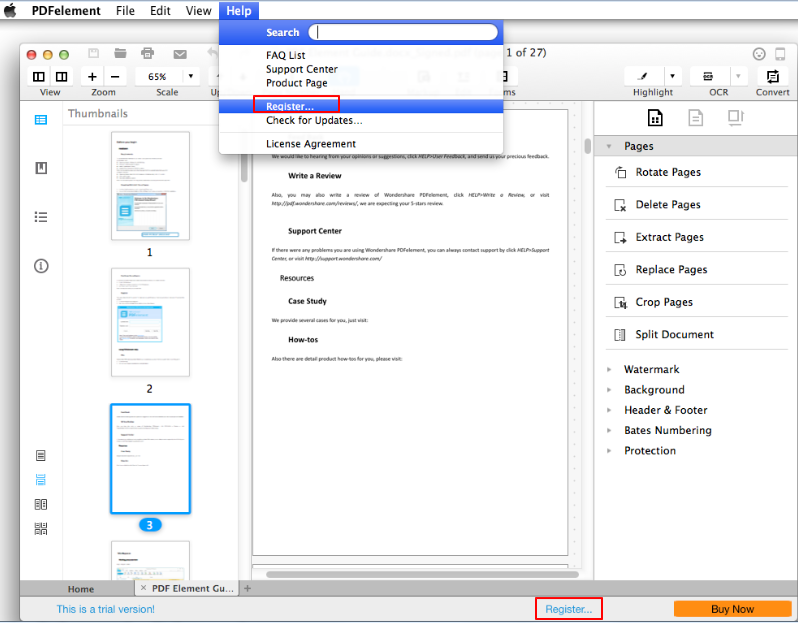 register pdfelement for mac