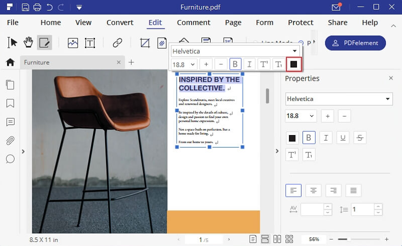 change font colour in pdf
